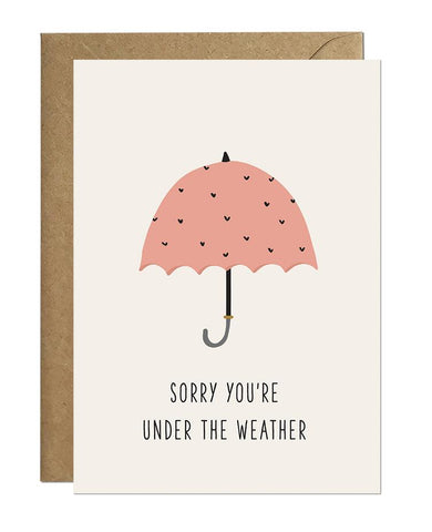 Under The Weather Get Well Card Greeting Cards Ricicle Cards