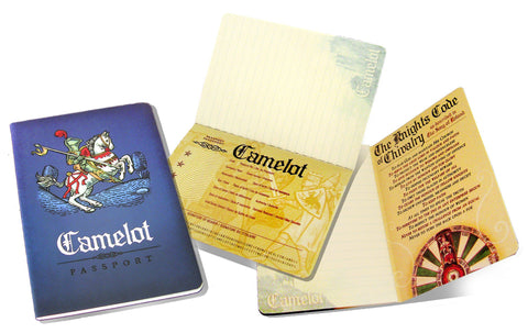 The Unemployed Philosopher's Guild Camelot Passport Notebook - ash-dove