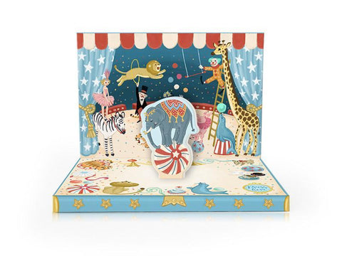 Music Box card -Circus Adventure Musical pop up card by My Design Collections - Ash & Dove
