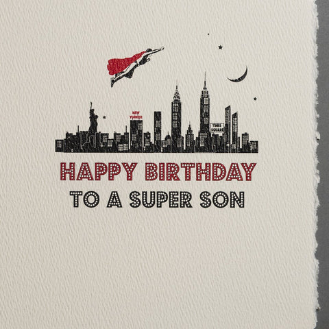 Super Son Birthday Card by Five Dollar Shake Greeting Cards Five Dollar Shake