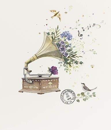 Gramophone Card Greeting Cards Paperlink