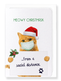 Meowy Christmas Card by Ezen Design Christmas Shop,Greeting Cards Ezen Design