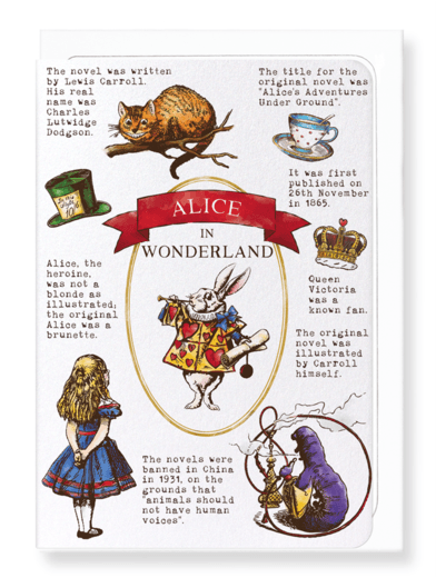 Alice In Wonderland Card by Ezen Design Greeting Cards Ezen Design