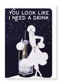 You Look Like I Need A Drink Card by Ezen Design Christmas Shop,Greeting Cards Ezen Design