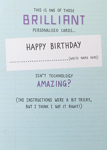 Personalised Birthday Card Greeting Cards Paperlink