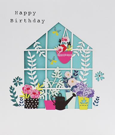 Happy Birthday Greenhouse Card Greeting Cards Paperlink