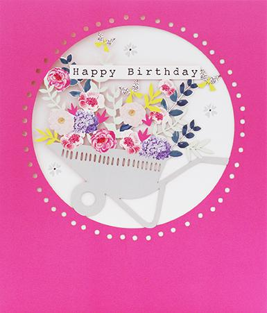 Happy Birthday Wheelbarrow Card Greeting Cards Paperlink