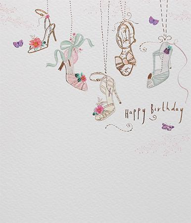 Shoes Birthday Card by Paperlink Greeting Cards Paperlink