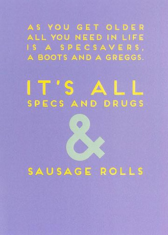 Sausage Rolls Blank Card Greeting Cards Paperlink