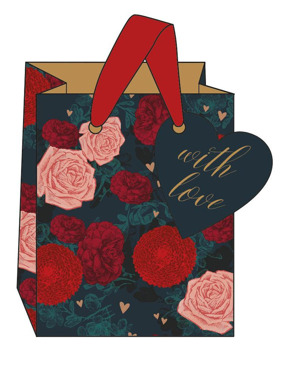 Small Roses Are Red Gift Bag by The Artfile Stationery The Artfile