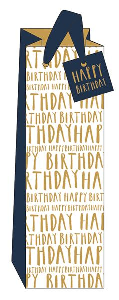 Happy Birthday Bottle Bag by The Artfile Stationery The Artfile