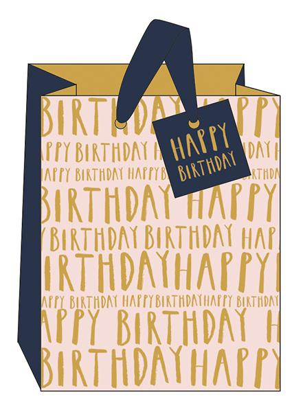 Medium Happy Birthday Gift Bag by The Artfile Stationery The Artfile