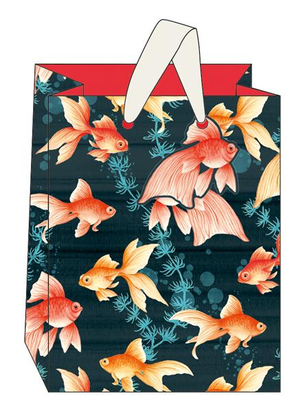Medium Gold Fish Gift Bag by The Artfile Stationery The Artfile