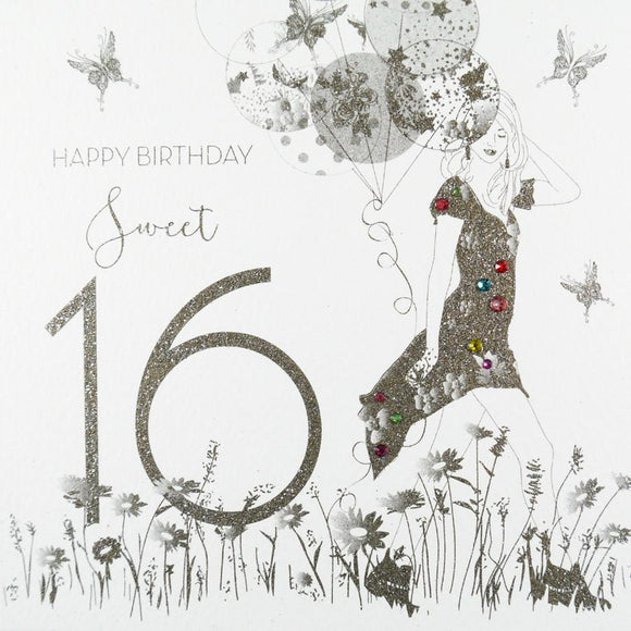 Sweet 16 Birthday Card by Five Dollar Shake Greeting Cards Five Dollar Shake
