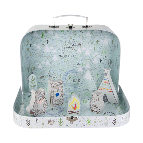Activity Suitcase Bear Camp Playset by Sass & Belle - ash-dove