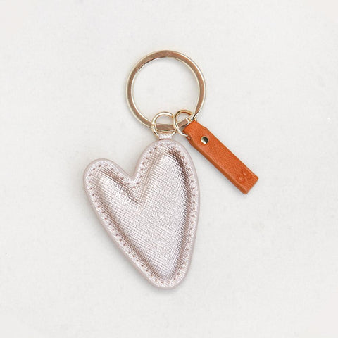 Rose Gold Heart Keyring by Caroline Gardner