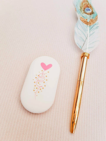 Large Heart Hand Held Eraser Stationery Artebene