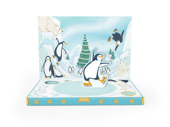 Penguin Christmas Musical pop up card by My Design Collections