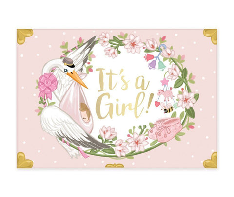 It's a Girl Musical  pop up card by My Design Collections - ash-dove