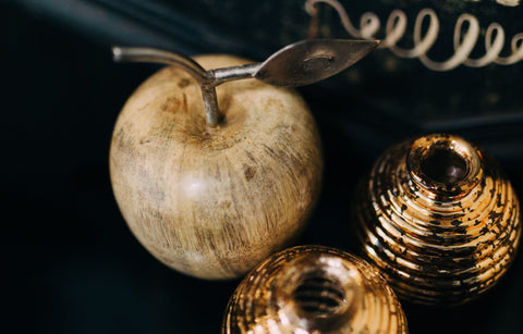 London Ornament's Wooden Apple - ash-dove