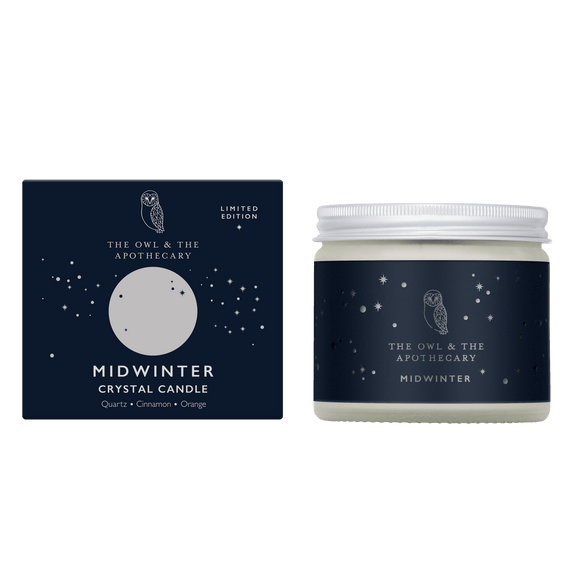 Midwinter Crystal Candle Shopping,Gifts The Owl and The Apothecary