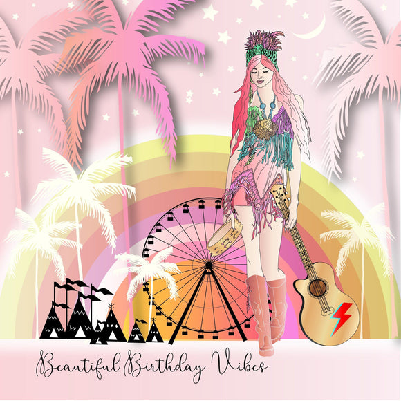 Birthday Vibes Card by Five Dollar Shake Greeting Cards Five Dollar Shake