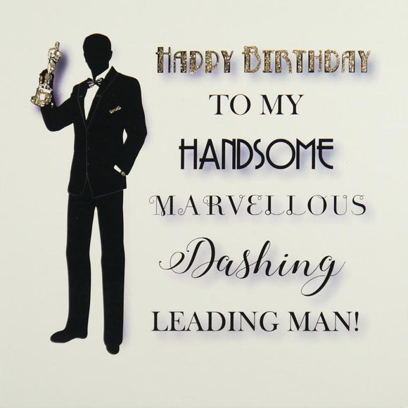 Leading Man Birthday Card by Five Dollar Shake Greeting Cards Five Dollar Shake