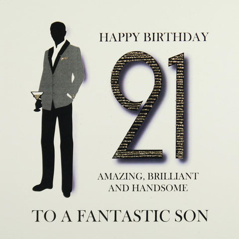 21st Son Birthday Card by Five Dollar Shake Greeting Cards Five Dollar Shake
