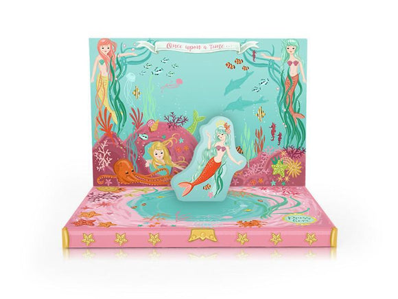Music Box card - Mermaid Adventure Musical pop up card by My Design Collections - ash-dove