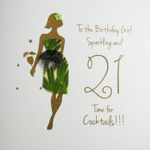 21st Birthday Girl Card by Five Dollar Shake Greeting Cards Five Dollar Shake