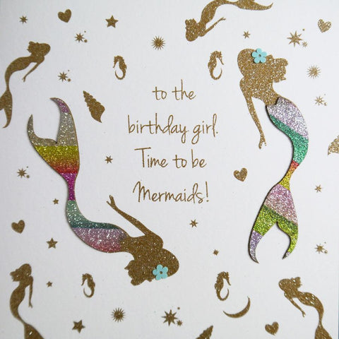 Mermaid Birthday Card by Five Dollar Shake Greeting Cards Five Dollar Shake