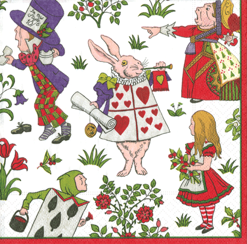 Alice in Winter Wonderland Napkins