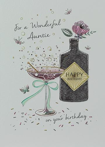 Wonderful Auntie Birthday Card Greeting Cards Paperlink