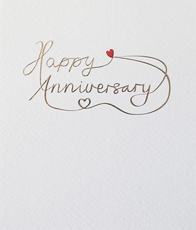 Happy Anniversary Elegant Card by Paperlink Greeting Cards Paperlink