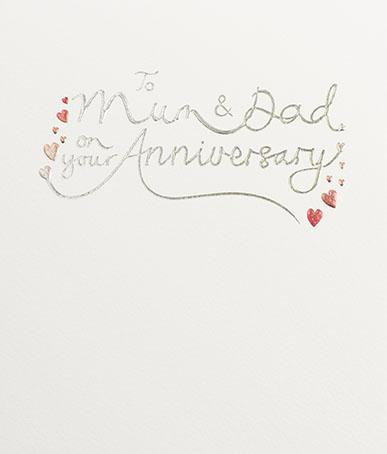 Mum and Dad Anniversary greeting card by paperlink Greeting Cards Paperlink