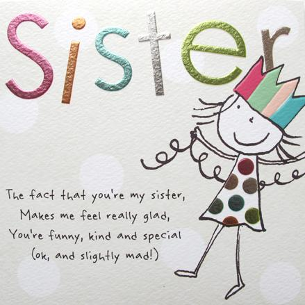 Sister Birthday Card Greeting Cards Paperlink