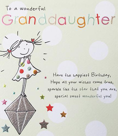 Granddaughter Birthday Card by Paperlink Greeting Cards Paperlink