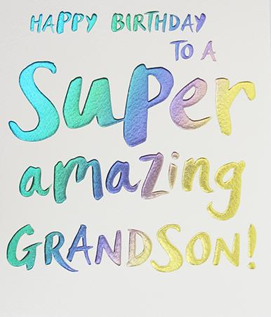 Grandson Birthday Card by Paperlink Greeting Cards Paperlink