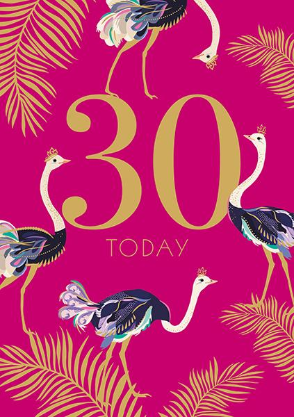 30 Today Birthday Card Greeting Cards The Artfile