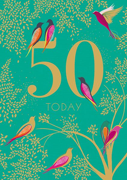 50 Today Birthday Card Greeting Cards The Artfile