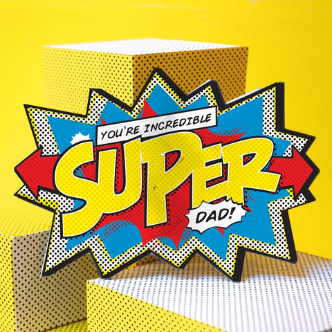 My Design Collection Super Dad Cracker Card - ash-dove