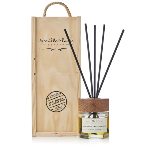 Sweet Orange & Atlas Cedar Wood Reed Diffuser by Vanilla Blanc Shopping Vanilla Blanc