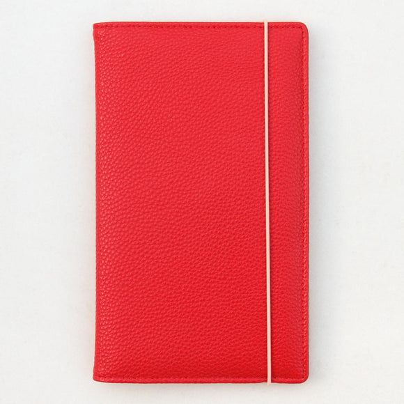 Red Travel Wallet with Rose Gold Inner by Caroline Gardner - ash-dove