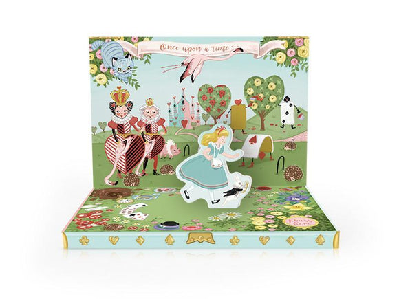 Music Box card -Adventures In Wonderland Musical pop up card by My Design Collections - ash-dove