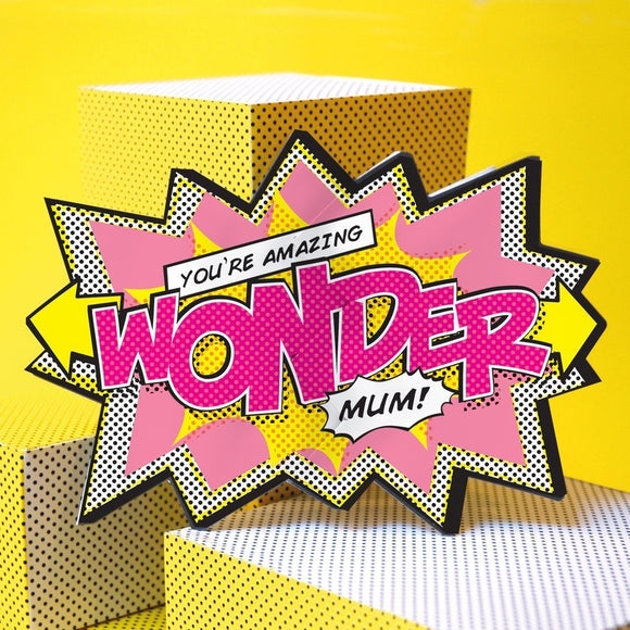 My Design Collection Wonder Mum  Cracker Card - ash-dove