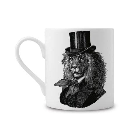 Chase & Wonder Dandy Lion Fine China Mug - ash-dove