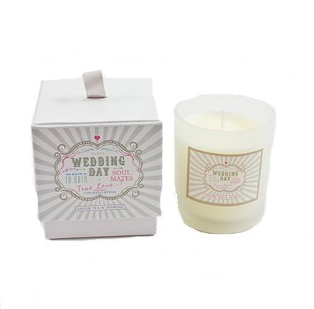 Green Tea & Jasmine Scented Wedding Candle by Heaven Sends - Ash & Dove