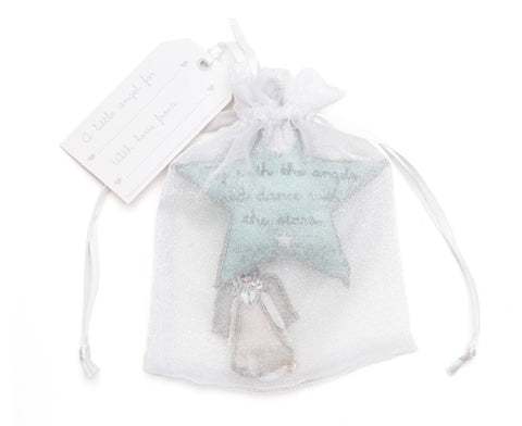 White organza gift bag