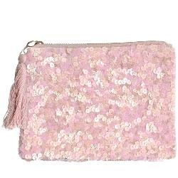 Pink Sequin Makeup Bag by Artebene - ash-dove