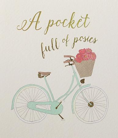 Paperlink A Pocket full of posies greeting card - Ash & Dove
